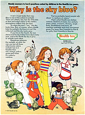 1977 HEALTH TEX Children's Vintage Clothes AD (Image1)