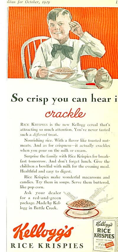 1929 Kellogg's Rice Krispie AD LEYENDECKER AR (Image1)