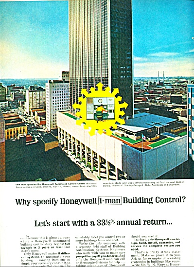 1964 HONEYWELL Control Natl Bank Dallas AD (Image1)