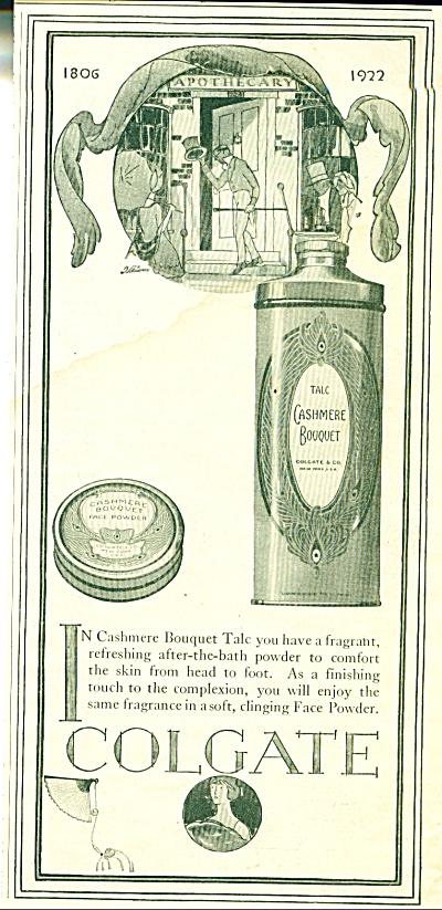 1922 Colgate CASHMERE BOUQUET AD ARTWORK (Image1)