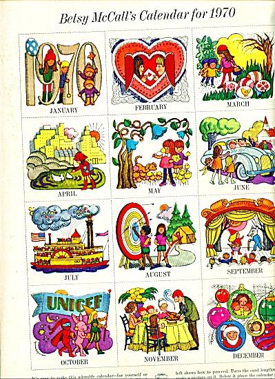 ORIGINAL Betsy McCall's Calendar for 1970 (Image1)
