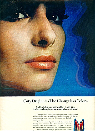 1970 COTY ORIGINALS - BEAUTY MODEL LIPSTICK A (Image1)