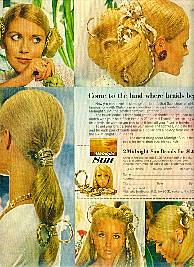 1970 MIDNIGHT SUN CLAIROL BLONDE MODELS (Image1)