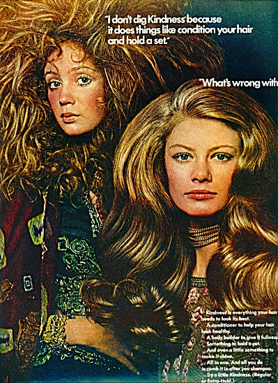 1970 KINDNESS Hair AD Supermodels (Image1)