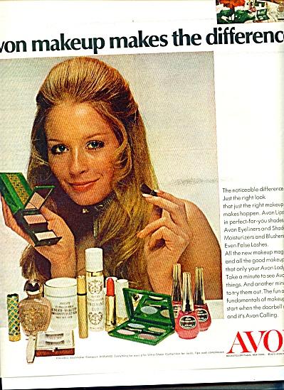 1970 AVON Makeup Cosmetics EYES AD Original (Image1)