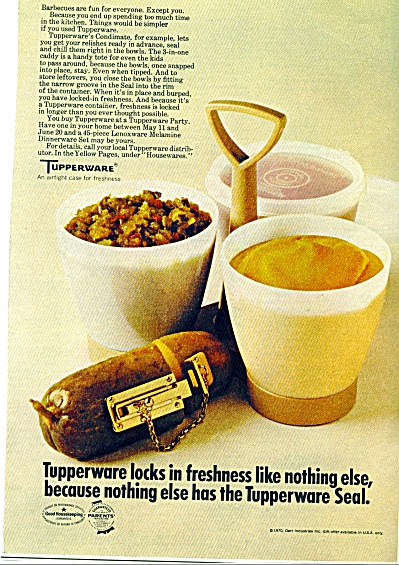 1970 TUPPERWARE Condimate Caddy AD (Image1)