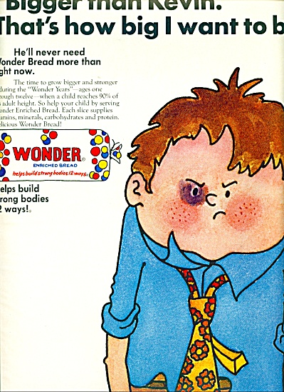 1970 BIGGER THAN KEVIN Wonder Bread AD FIGHT (Image1)