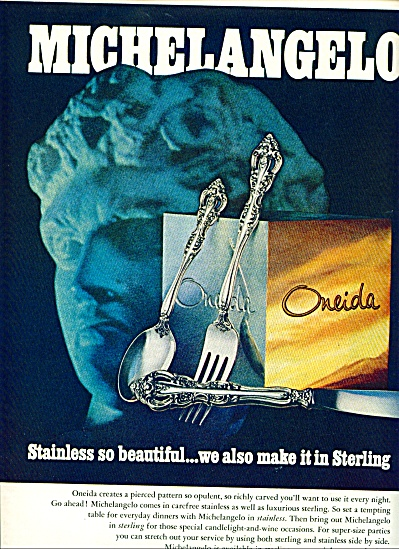 1970 ONEIDA Satinless Sterling MICHELANGELO A (Image1)
