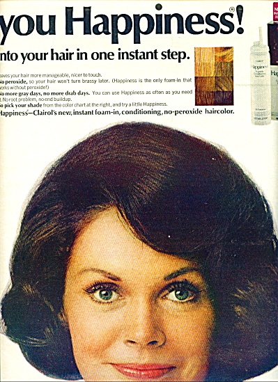 1970 CLAIROL Barbara Leigh? HAIR COLOR AD 2 p (Image1)