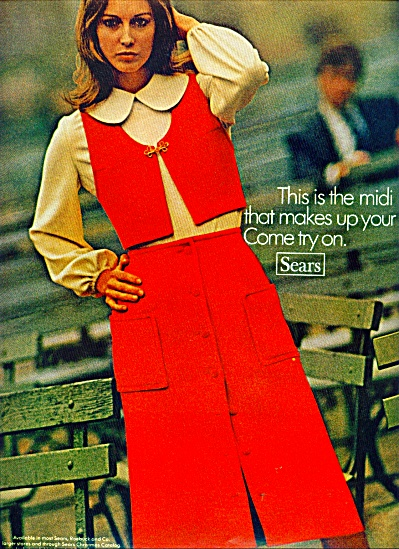 1970 SEARS MIDI - DRESS SKIRT AD Fashion Mode (Image1)