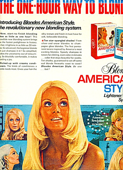 1970 BLONDES American Style HAIR AD Models (Image1)