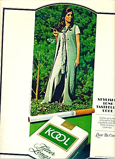 1970 KOOL Cigarette AD Cool Fashions Model (Image1)