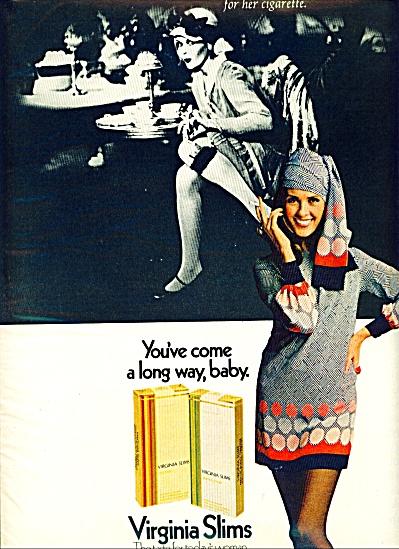 1970 VIRGINIA  SLIMS Cigarettes AD LONG WAY BABY (Image1)