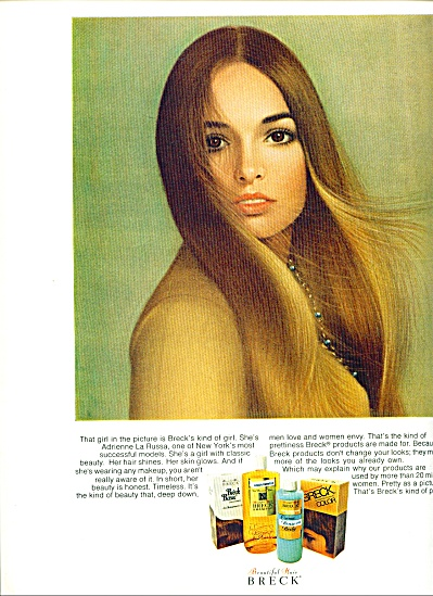 1970 BRECK Beautiful HAIR AD MODEL ADRIENNE L (Image1)