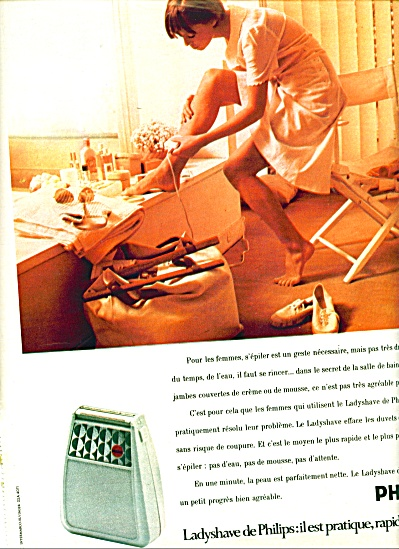 1974 French Philips Ladyshave Ad