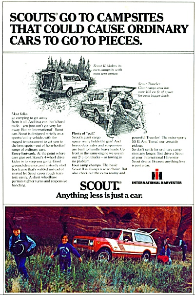 1979 INTERNATIONAL HARVESTER Scout SUV AD (Image1)