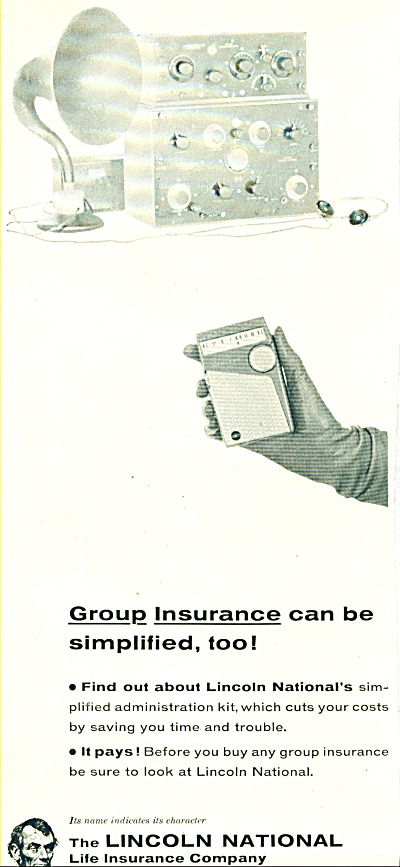 1959 LINCOLN NATIONAL LIFE INSURANCE CO AD (Image1)