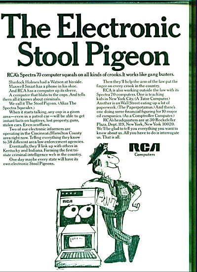 1969 RCA Computer AD Stool Pigeon Spectra 70 (Image1)