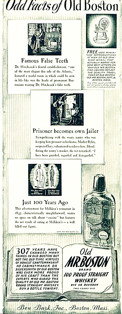 1937 Old Mr. Boston Whiskey AD Ben Burk (Image1)
