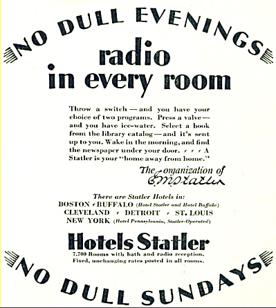Hotels Statler ad - October 1928 (Image1)