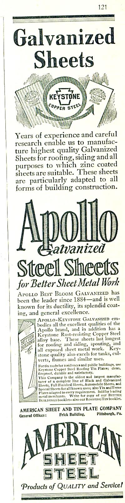 1928 American Sheet steel  Keystone  ad (Image1)