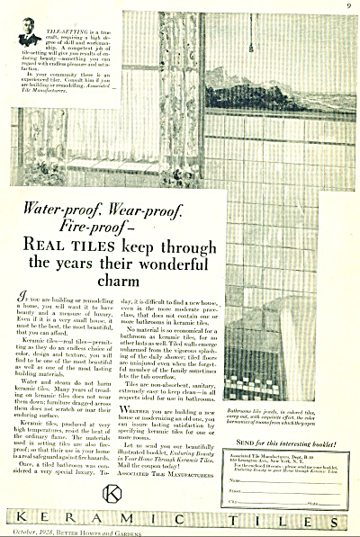 1928 Ceramic Keramic Associated Tiles ad (Image1)