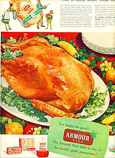 1950's Armour Star Farm Fresh Turkey AD (Image1)