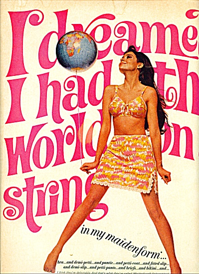 1967 MAIDENFORM AD COLLEEN CORBY World String (Image1)