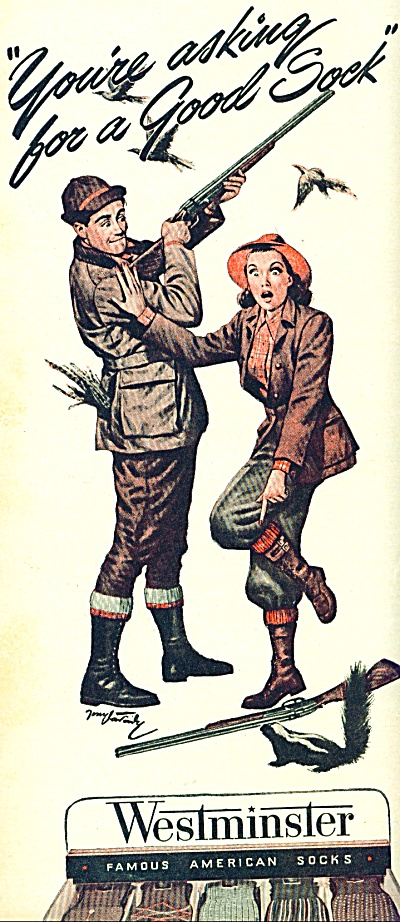 1946 Westminster SOCKS AD ARTWORK TONY VARADY (Image1)