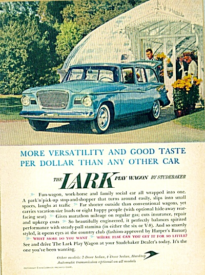 1959 STUDEBAKER Lark Play Wagon Car AD GREENH (Image1)