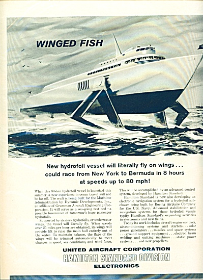 1961 United Aircraft HYDROFOIL Vessel FLY AD (Image1)