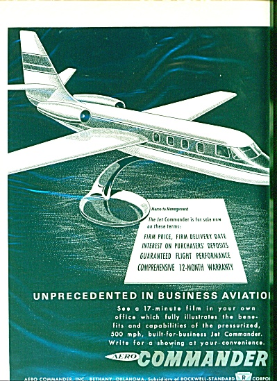 1962 AERO Commander JET Airplane AD (Image1)