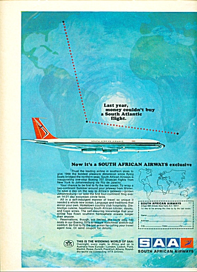 1969 South African Airways SSA AD IATA COLOR (Image1)