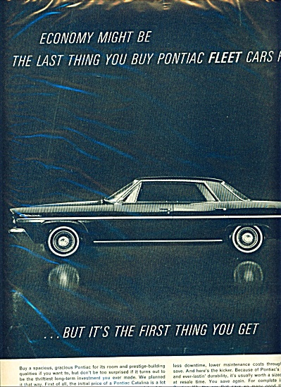 1963 CATALINA PONTIAC TRADE Fleet AD (Image1)