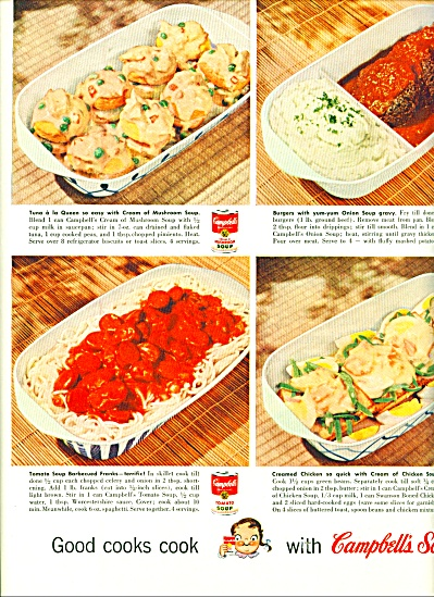 Campbell's Soup ad RECIPES for GREAT FOOD (Image1)