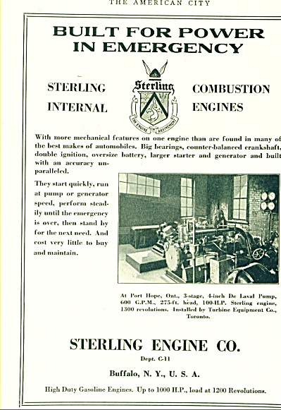 Sterling Engine Co.  Ad Port Hope Ontario CA (Image1)