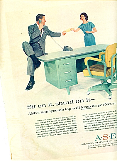 1959 A S E -All steel DESK equipment co. AD (Image1)