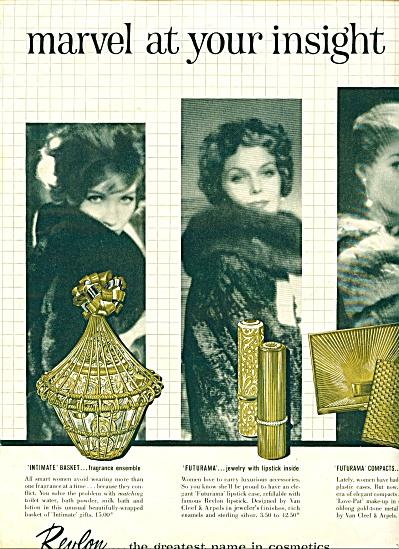 1959 REVLON Cosmetics AD 3 - Fashion Models (Image1)