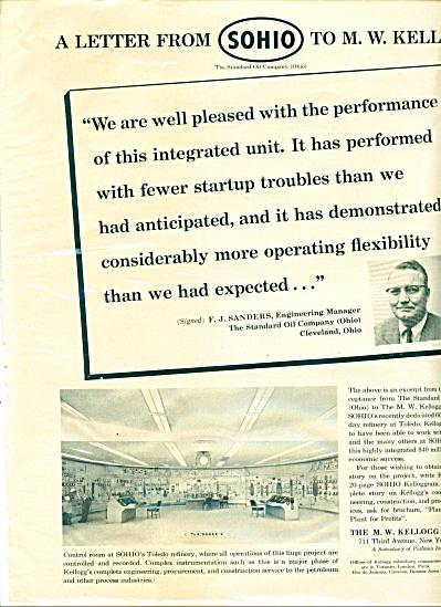1959 SOHIO Toledo Refinery Kellogg Trade AD (Image1)