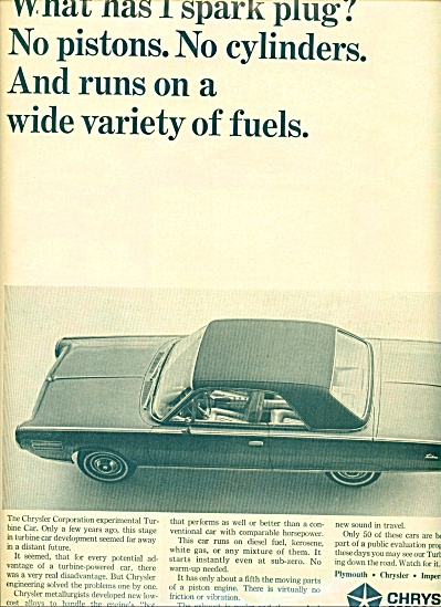 1964 Chrysler Corporation TURBINE CAR AD (Image1)