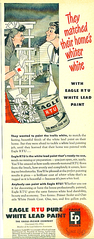 1947 Eagle RTU pure white lead paint AD (Image1)