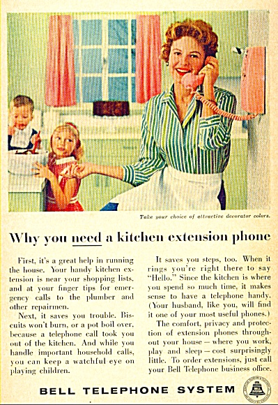 1959 Bell Telephone System Phone Extension AD (Image1)