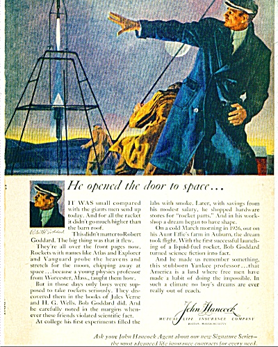 1959 John Hancock INSURANCE CO AD Goddard ART (Image1)