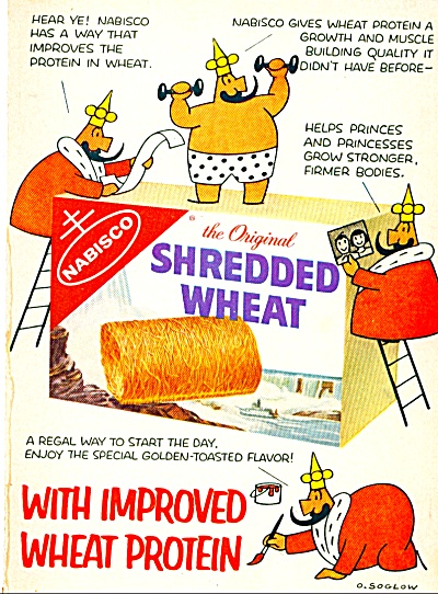 1959 NABISCO Shredded Wheat Cereal AD O. SOGL (Image1)