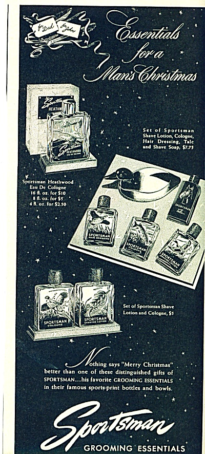 1946 Sportman Grooming Essentials Cologne ++