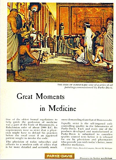 1959 PARKE DAVIS MEDICINE Code of Hammurai AD (Image1)