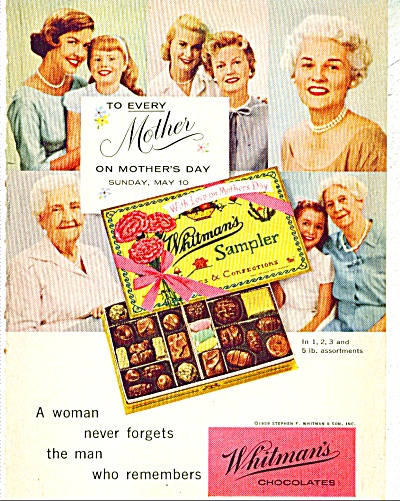 1959 WHITMAN'S MOTHER Mother's DAY CANDY AD (Image1)