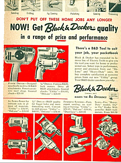 Black & Decker Tools Ad - May 1959