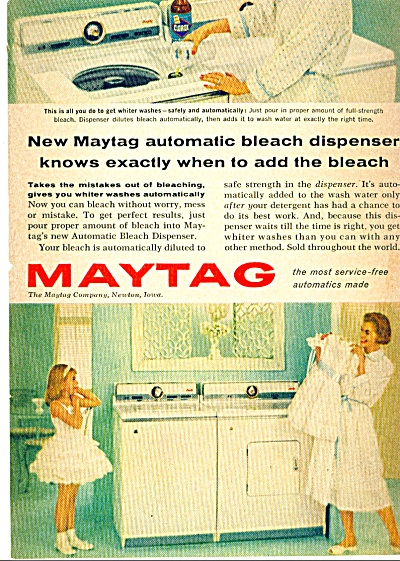 1959 MAYTAG Washer GIRL in SLIP AD ORIGINAL C (Image1)
