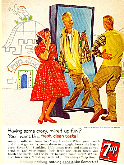 1960 7 Up Seven Up FUN HOUSE AD (Image1)